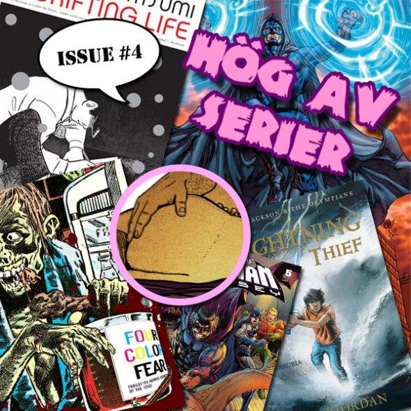 Illustration av Hög av serier: Fantastiska fyran