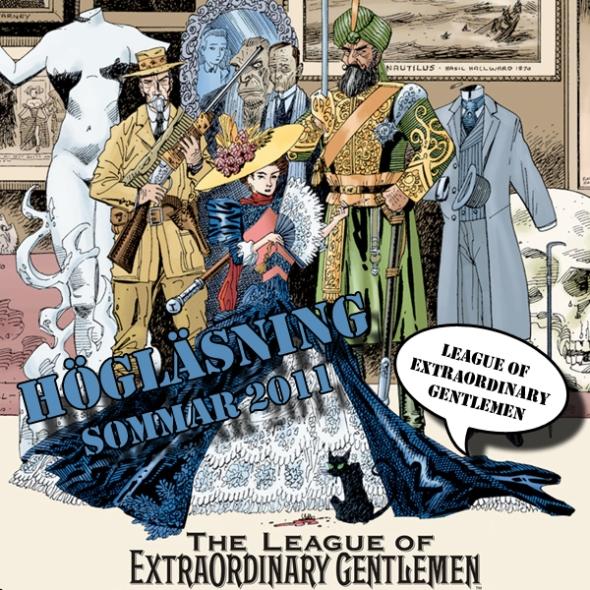 Illustration av Högläsning - League of Extraordinary Gentlemen