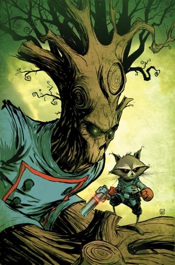 Rocket Racoon och Groot