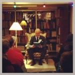 """Stefan Sauk gjorde en fantastisk läsning av """"Drömmarna i häxhuset"""" på Rönnells Antikvariat under SHPLFIII."""