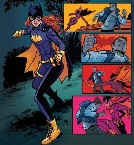 Batgirl i aktion, tecknad av Babs Tarr