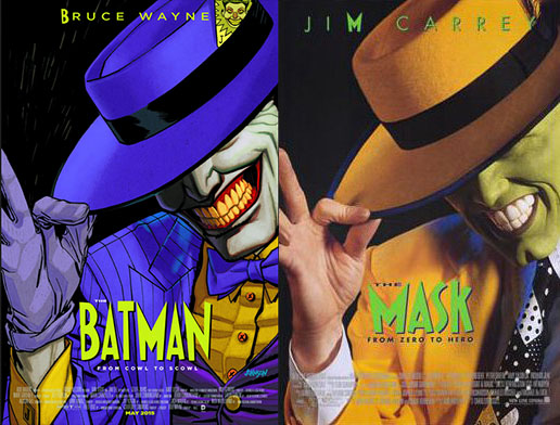 Dave Johnson tolkar omslaget till filmen The Mask för Batman #40