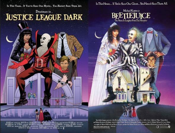 Joe Quinones gör omslaget till Justice League Dark #40 som en tolkning av Beetlejuice