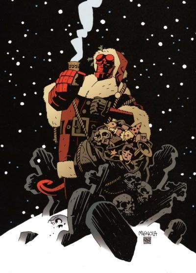 Hellboy Santa